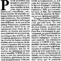 Article de journal du 2 mai 2007