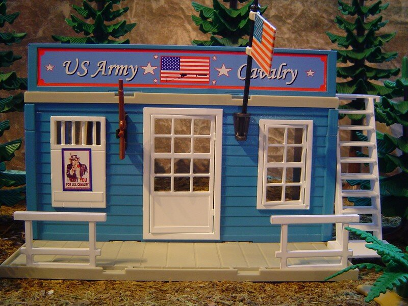 le bureau de recrutement des yankees us army office playmobil tuning western en construction. Black Bedroom Furniture Sets. Home Design Ideas