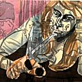 Salle 1982_Crouched Woman with Scissors