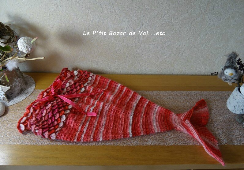 QUEUE DE SIRENE AU CROCHET : COUVERTURE POUR BEBE