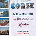 Voyage en Corse Juin 2015