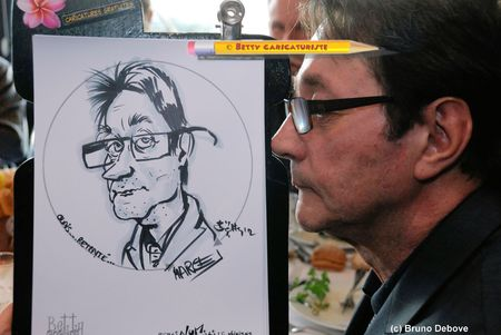animation caricaturiste salon professionnel