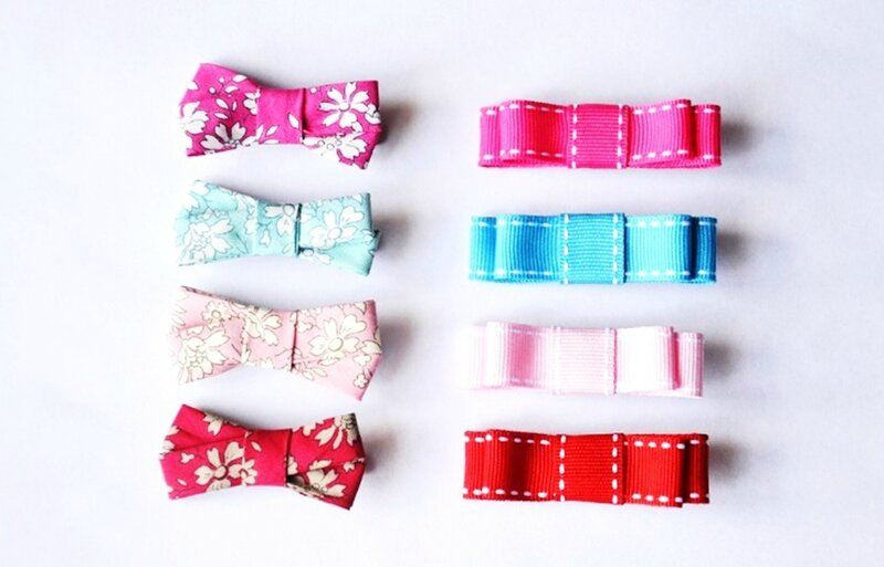 Barrettes lot uni ou liberty
