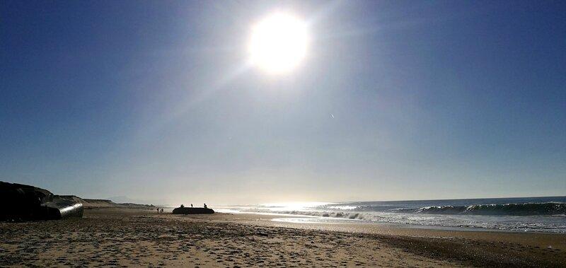 Labenne-Océan, plage et blockhaus en hiver