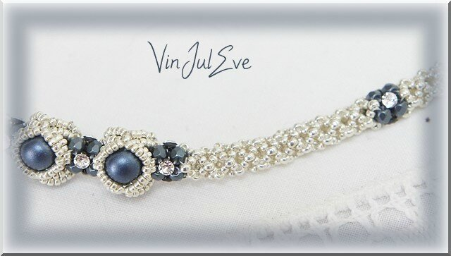 collier Iva bleu argent 1