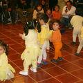 Los chiquitos de la sala Cuna del H.deCristo disfrasados de patitos