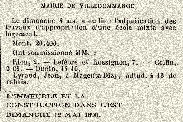 1890 ECOLE