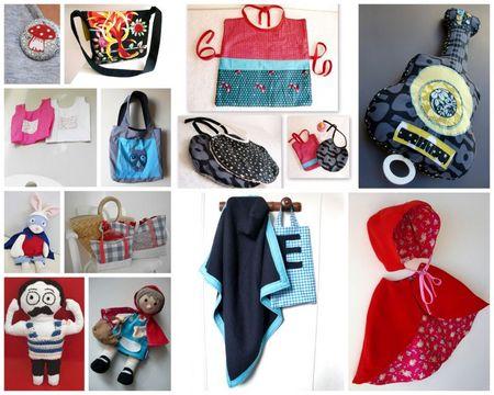 2 sacs, doudous et autres bidouilles cousues 2011
