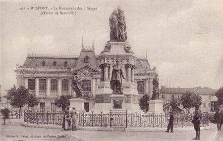 CPA Belfort Monument3 Sièges