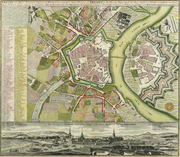 Matthäus Seutter, Map of Dresden, circa 1720