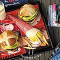 Des hamburgers pour le goûter !!!