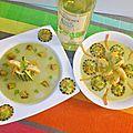 Crème de courgette et sa brunoise de légumes( du chef custos)