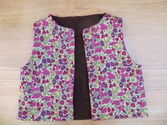 kit gilet asters chocolat (Small)