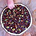 Hãsta la pizza... au chocolat ! {nocciolata, grenade, raisins, fruits secs caramélisés, pizza-lanta n°2}