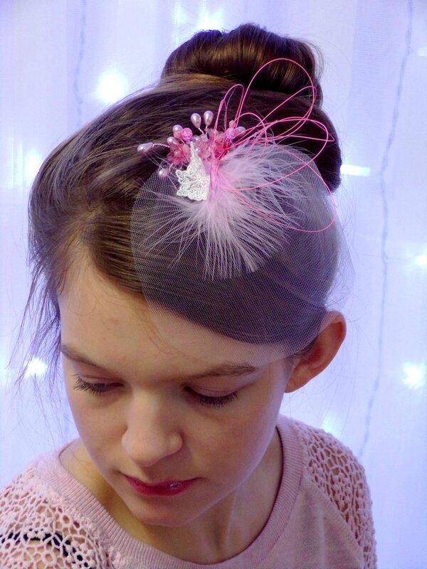 Voilette mariage papillon rose