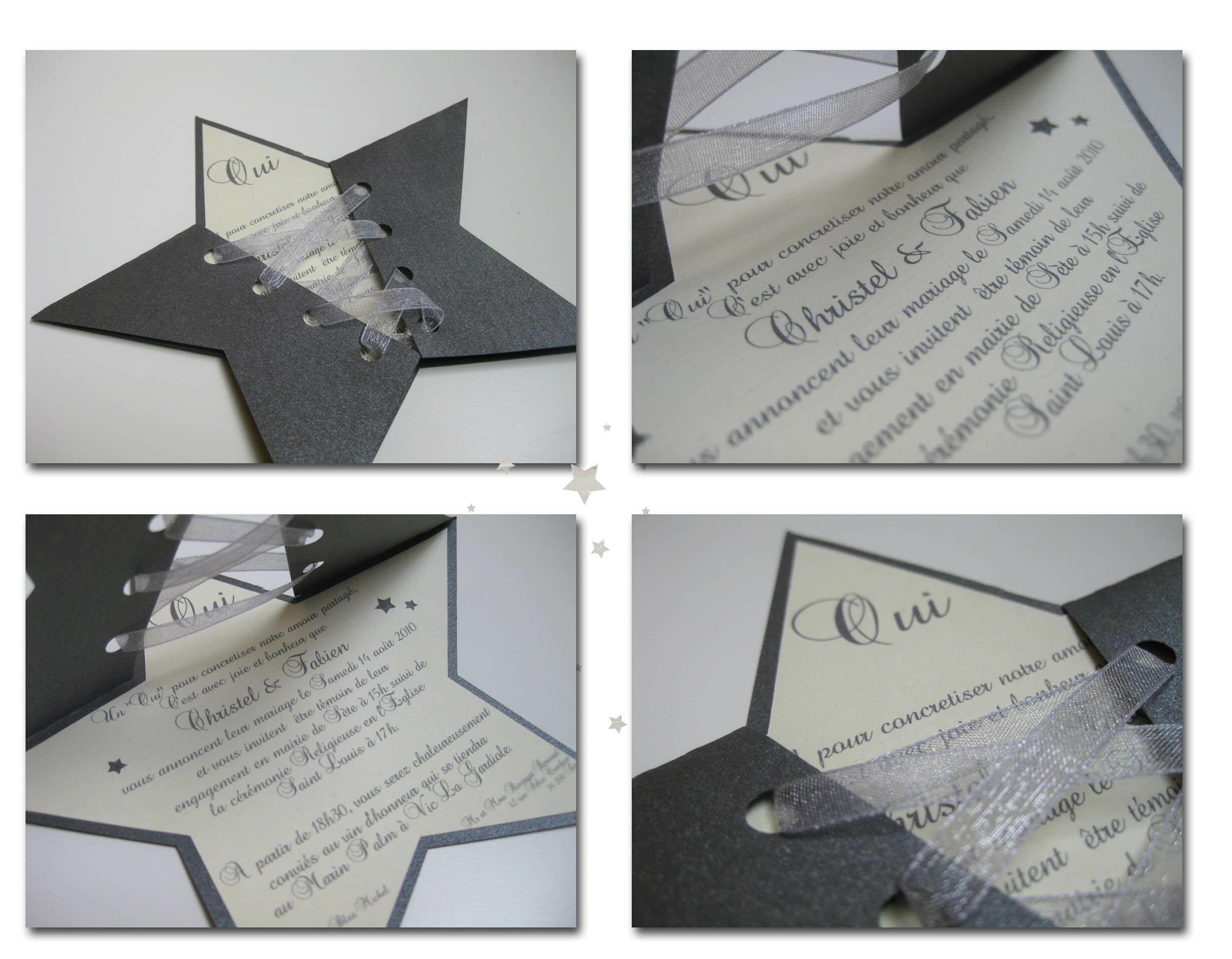 Favori Faire-part étoile - Jolies créations, le blog des Faits à Façon XN22