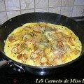 Omelette campagnarde, sans gluten et sans lactose