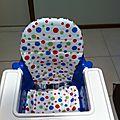 Le coussin réversible pour chaise haute ikea