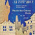 Affiche salon livre Plestin 2017
