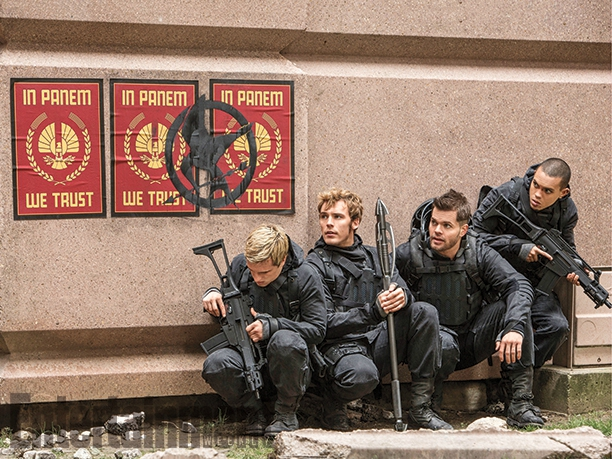 Mockingjay - Part 2 Josh Hutcherson, Sam Claflin, Wes Chatham & Evan Ross