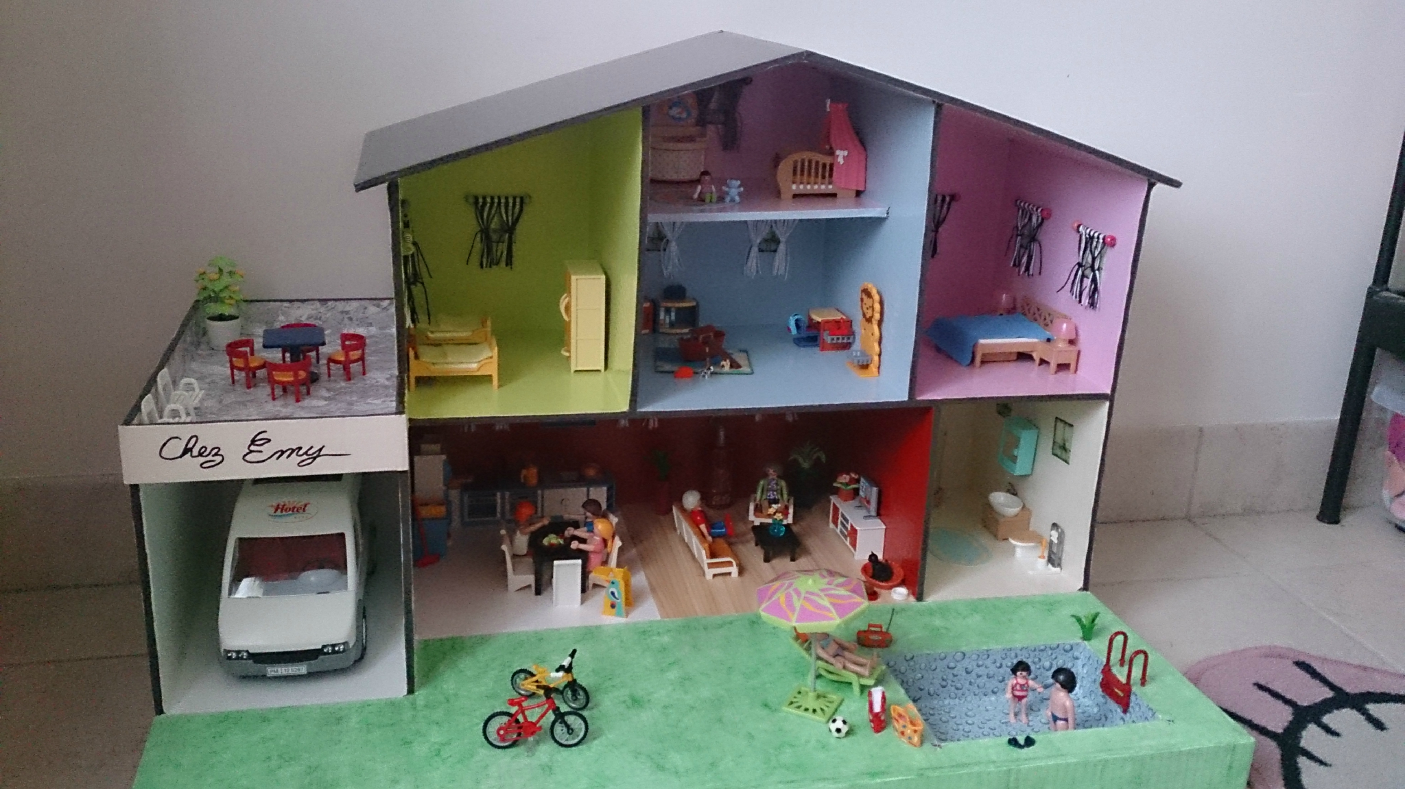 Décoration maison playmobil