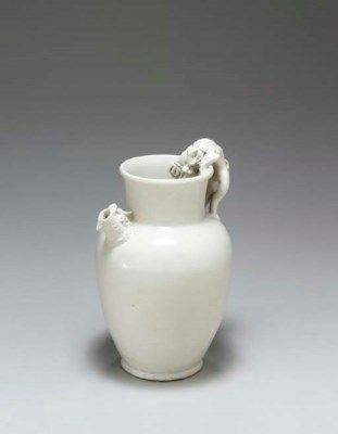 A rare early white-glazed ewer, Tang dynasty, 9th-10th century