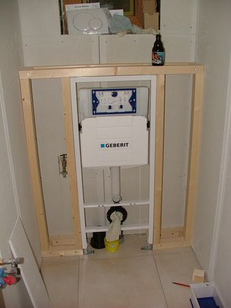 Installation wc suspendu for Pose wc suspendu geberit