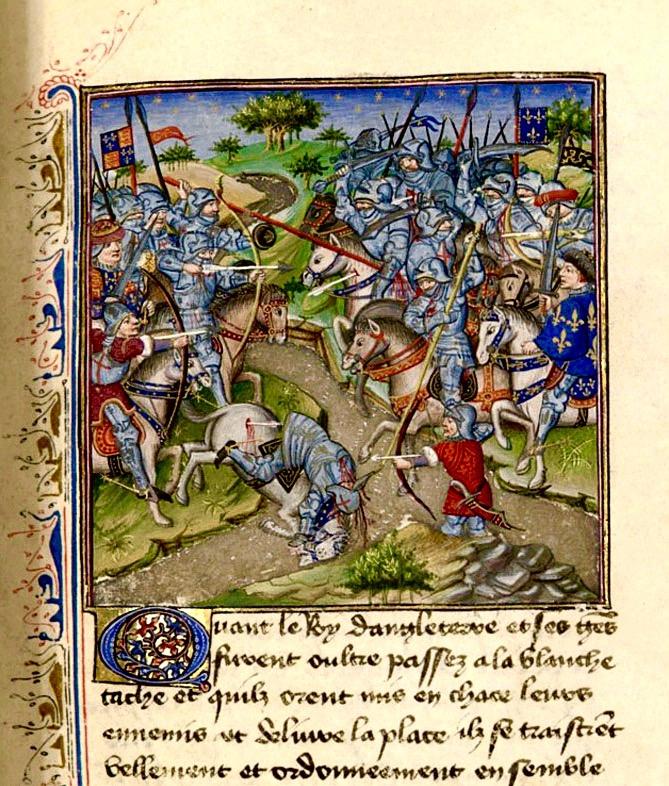 Crécy Froissart ms2675 fol 159 v