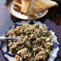 Tartare de sardines aux herbes et aux épices