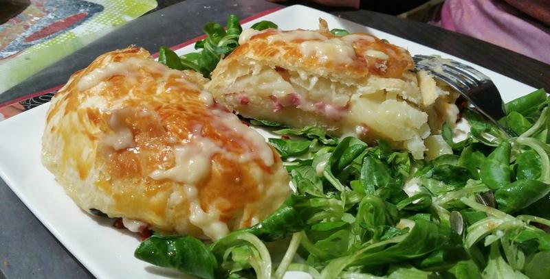 camembert en croute aux lardons et pomme de terre 3
