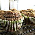 Muffins aux pommes sans lait, sans oeufs et sans gluten