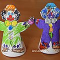 Coloriage clown en cone