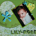 Lily-Rose 1 mois