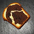 Cake marbré mascarpone chocolat noir et blanc