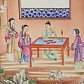 An attractive chinese famille rose 'rockefeller' pattern part-service, qianlong-jiaqing period