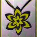 Collier étoiles feutrine noir et vert (N)