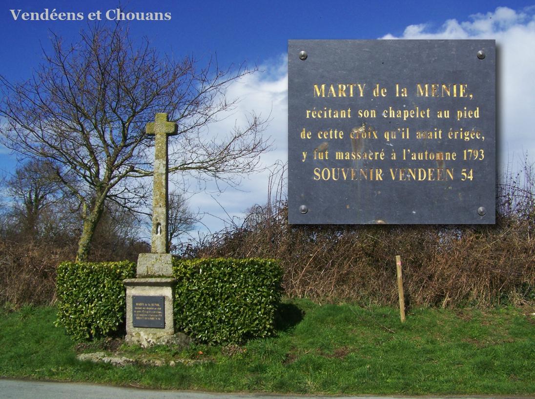 SaintMaloduBois (85) – Croix de la Ménie (1954)  Photo  ~ St Malo Du Bois