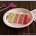 Pink ombre cake à base de ... gâteau au yaourt!