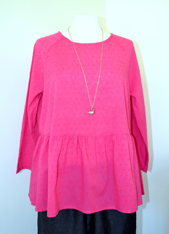 blouse Martha fushia
