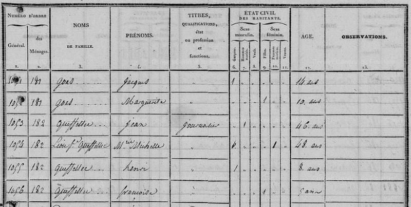 Recensement Quimerc'h 1836 image 23