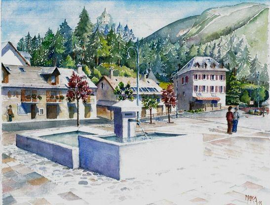 aquarelle place
