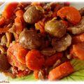 Poêlée châtaignes carottes