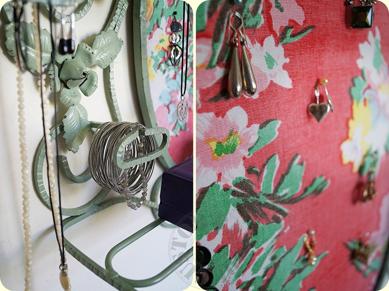 Porte-bijoux fer forgé -détails