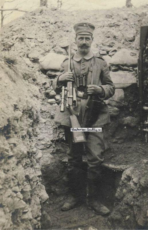 tireur allemand avec carabine de chasse à lunette