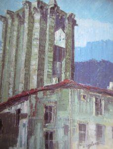 La Tour des Anglais Huile sur toile