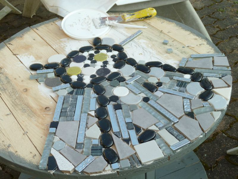 Bon faire de la mosaique avec du carrelage 9 d but de la - Faire de la mosaique ...
