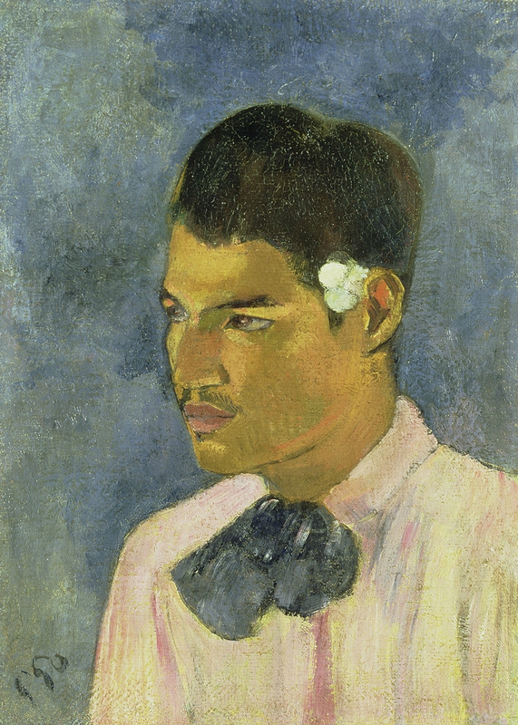 Paul Gauguin, 'Young Man with a Flower behind his Ear', 1891