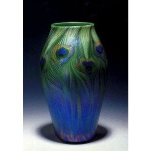 tiffany peacok vase C