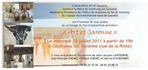 Vernissage Art et Garonne 2011
