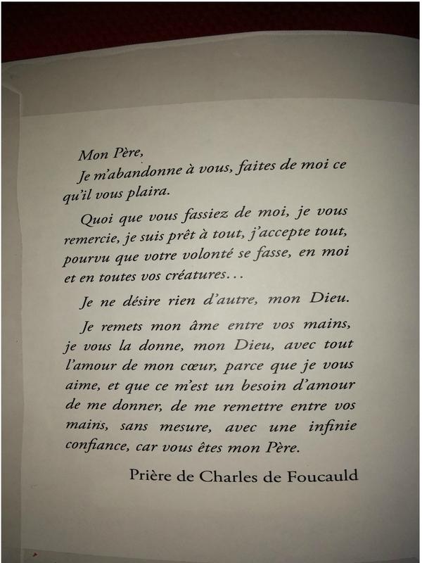 Prière de Charles de Foucauld